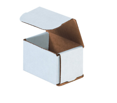 """50 Pack 3x2x2 White Corrugated Shipping Mailer Packing Box Boxes 3"""" x 2"""" x 2"""""""