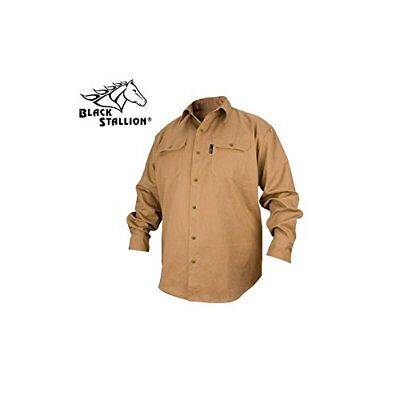 REVCO BLACK STALLION FR FLAME RESISTANT COTTON WORK SHIRT - FS7-KHK Size Mens XL