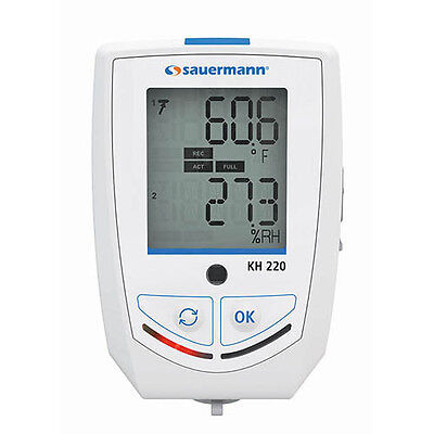 Sauermann KH 220-O Multi-Function Data Logger for Humidity, Light, and Temp