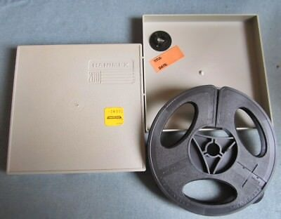 Hanimex 200' 8mm Take Up Reel and Case With Adapters