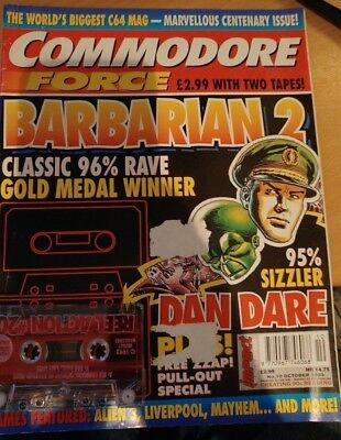 Commodore Force Magazine issue # 10 October 1993 1 covertape