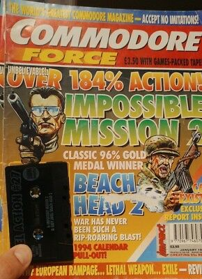 Commodore Force Magazine issue # 14 January 1994 (B) with covertape