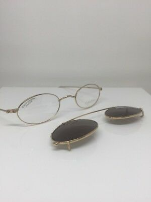 1206e5ba61 New VINTAGE CALVIN KLEIN Eyeglasses Classic Editions C5 C. Gold With Sun  Clip On