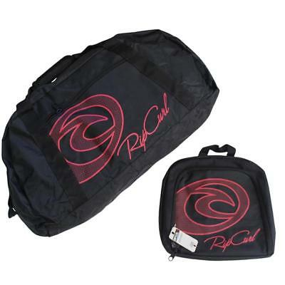 Rip Curl 2in1 Gear Bag Black Overnight Travel Cabin Gym Lugagge Set Mens Womens