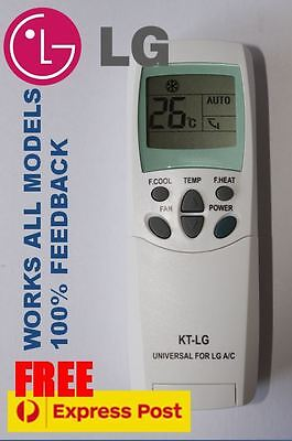 LG air con conditioner (Split system) remote control for ALL models *NO CODING*
