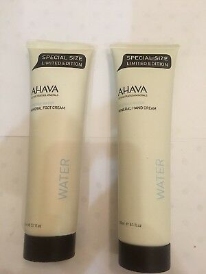 Set of AHAVA Mineral Foot and HAND Cream Special Size 150 ml NEW no box