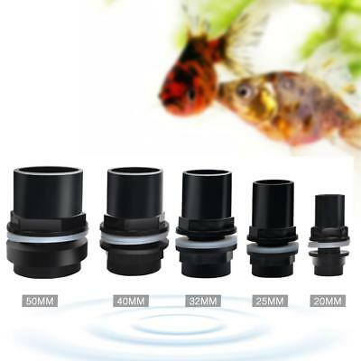 Hot Sale Aquarium Straight Tank Connector PVC Waterproof Pipe Joint Fish Tank AU