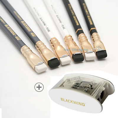 Palomino Blackwing White Sharpener & 6 Pencils (Original,602, Pearl x 2) Set