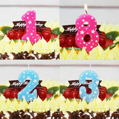 Fashion Kids Birthday Cake Numbers Candles Decoration Party Anniversary Candles