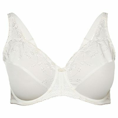 NEW Embroidered Minimising Underwire Bra - Ivory, Style:10081627