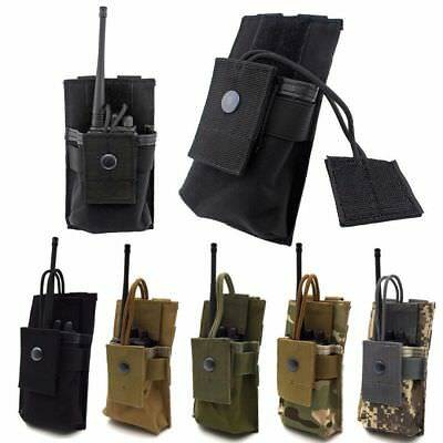 Tactical Radio Case Holder Walkie Talkie Holster Molle Pouch Open Top Mag Pouch