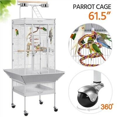 "62"" Large Bird Cage Play Top Parrot Finch Macaw Cockatoo Pet Supplies w/Stand"