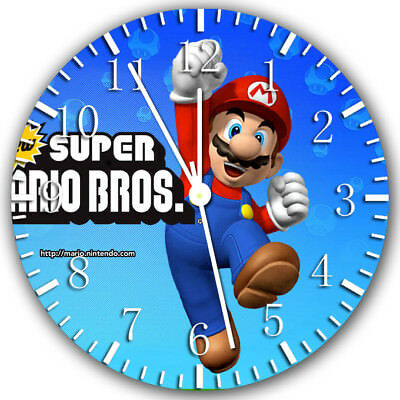 Borderless Super Mario Frameless Wall Clock W164 Nice for Decor Or Gifts