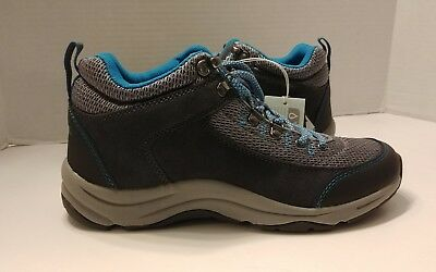 Vionic Cypress Water Resistant Hiking Boots Orthotics Black Suede MSRP $140 NEW