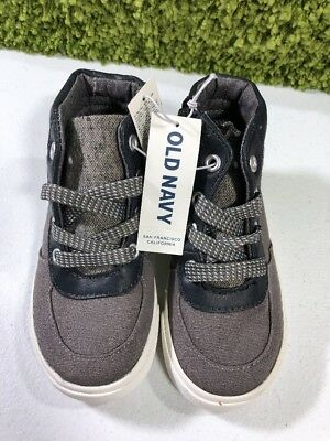 NWT Old Navy Toddler Boys Gray Sneakers Size 8
