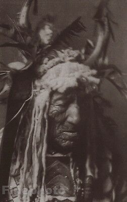 1900/72 Photo Gravure NATIVE AMERICAN INDIAN Hidatsa Chief By EDWARD CURTIS 8x10