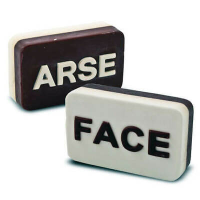"""""""Arse/Face"""" Scented Soap Funny Novelty Gift Bathroom Shower"""