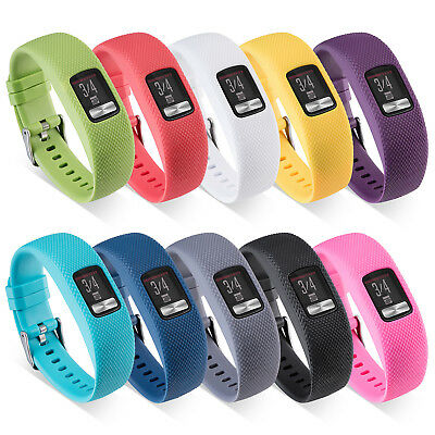 Replacement Silicone Watch Band Strap for Garmin vivofit 4 Sports Watch S/Large