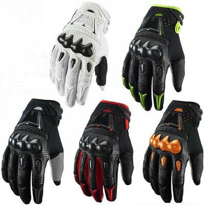 1 Pair Out Sports Carbon Fiber Leather Motorcycle Motocross Racing Bike Gloves