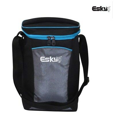 1 x ESKY 2 Bottle Soft Cooler Ice Wine Drink Bag with Shoulder Strap Zip Top Lid
