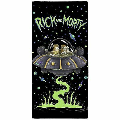 Rick And Morty Ufo Beach Bath Pool Towel 100% Cotton Kids Large