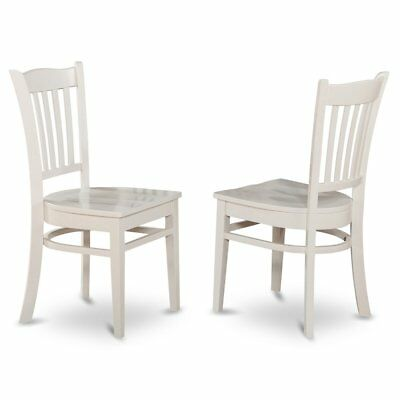 Groton  Dining  Chair  With  Wood  Seat  In  Linen  White  Finish,  Set  of  2