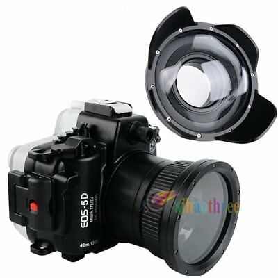 Seafrogs 40m Diving Case + Wide Angle Dome Port For Canon EOS 5D Mark III IV 5D4