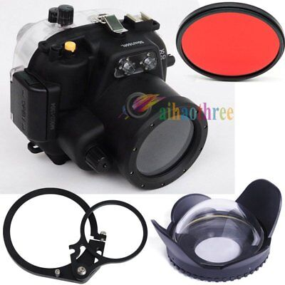 Meikon 50m/160ft Waterproof Diving Case + Fisheye Dome Port For Canon EOS 550D