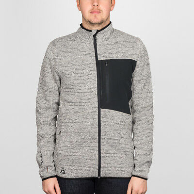 Quiksilver 'Raven' Polartec Snow Zip Fleece. Grey Heather.