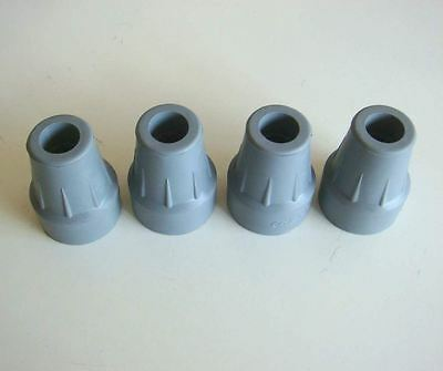 4 of 22mm Coopers Ferrules Crutch tip Walking Stick Frame Ends 7/8""