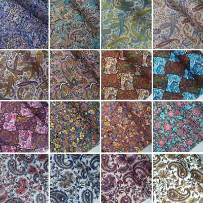 100% Cotton Poplin Fabric Paisley Floral Flower Collection