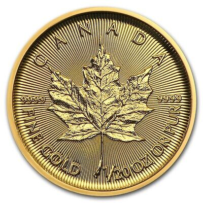 1/20 oz Gold Maple Leaf 2018 - 1 Dollar Kanada Goldmünze 999,9 Stempelglanz