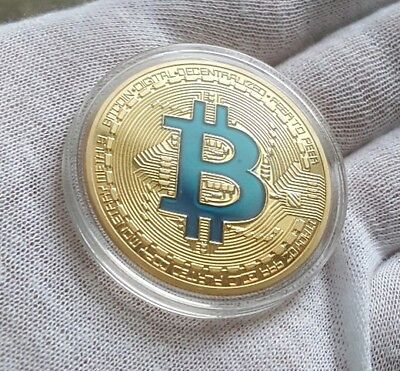 BITCOIN! 1oz Gold Physical Bitcoin Proof Round Coin - FAST SHIPPING! USA Seller!