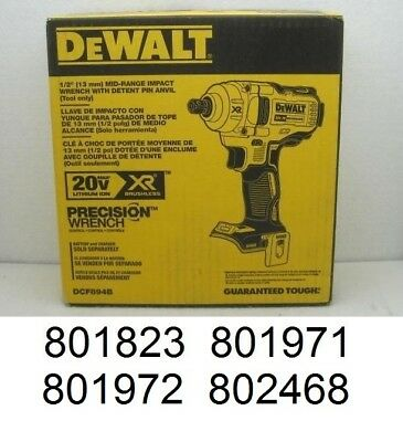 DeWALT DCF894B 20-Volt Max Lithium Ion 1/2 in. Cordless Impact Wrench Bare Tool