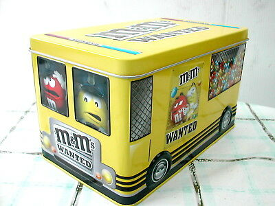 *m&m's Boîte Metal Cacahouete Jaune Pastille Rouge Wanted 2015