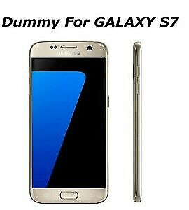 Samsung Galaxy S7  silver Dummy phone with color LCD for display non functional