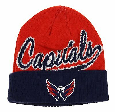 802e1ab603d NEW ADULT NHL Washington Capitals Embroidered Knit Reebok Cuffed ...