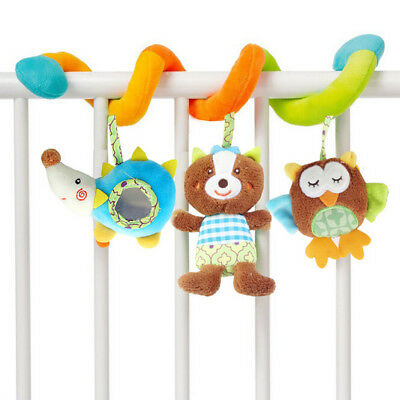 Cartoon Infant Bed Stroller Hanging Toys Animal Baby Sound Plush Rattle Mobiles