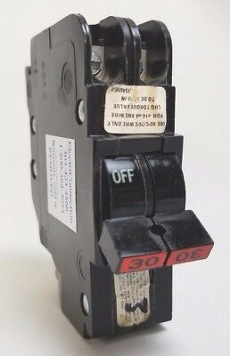 FPE (AMERICAN, CHALLENGER) NC230 2 Pole 30A Red Handle Circuit Breaker TESTED