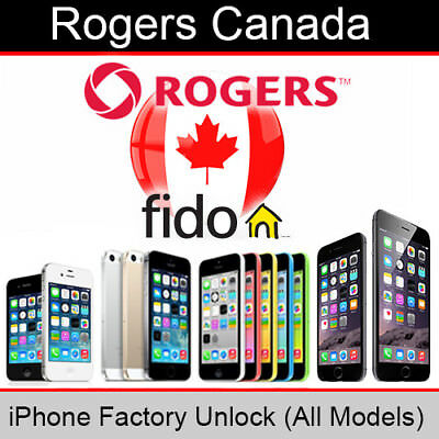 Rogers/Fido Canada iPhone Factory Unlocking Service (All Models Supported)