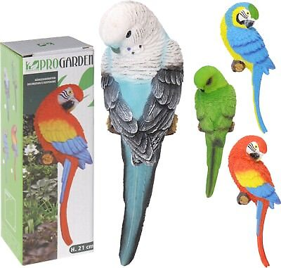 Lovely 21cm Budgie Parrot Bird Hanging Garden Decoration Indoors or Outdoors