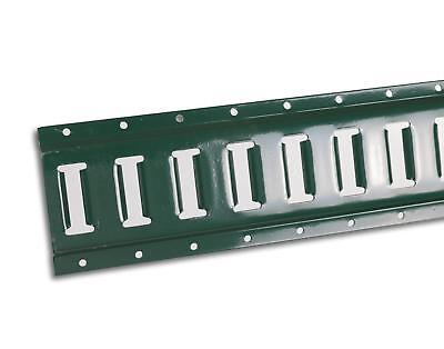 5' Powder Coated Horizontal E-Track - High-Strength 12 Gauge Steel - Green