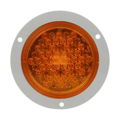 Truck-Lite Super 44 Yellow Round LED Rear Turn Signal, Gray Flange