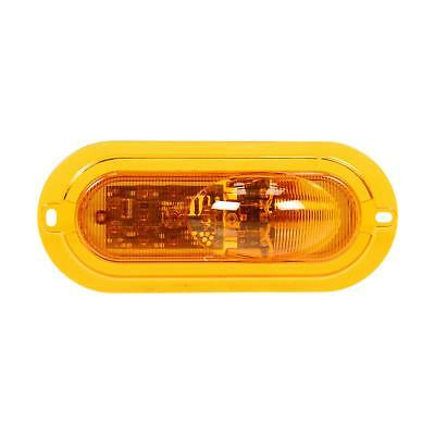 Truck-Lite Super 60 Yellow Oval LED Side Turn Signal, Yellow Flange