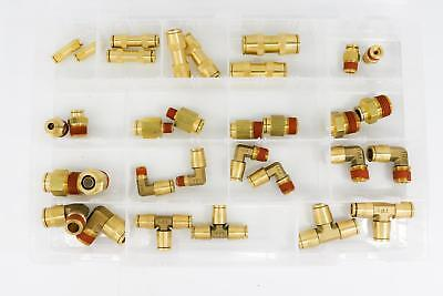 (1) Assortment of Air Brake Push-to-Connect Fittings