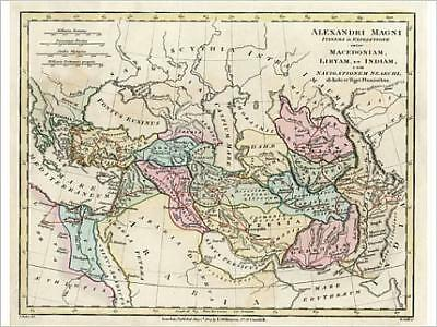 "11575333 16""x12"" (41x30cm) Print Map of the Empire of King Alexan..."