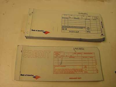 2-Part Long Credit Card Imprinter Slips 50 charge 25 credit