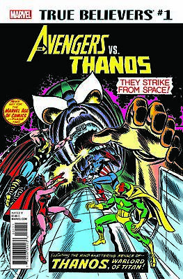 True Believers Avengers Vs Thanos #1 Marvel Nm