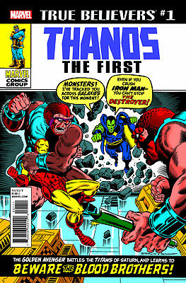 True Believers Thanos The First #1 Marvel Nm