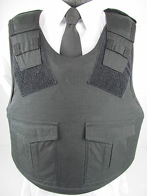 X Police Black Kevlar Stab & Bullet Proof Body Armor Vest SMALL-XXLARGE I5/G1